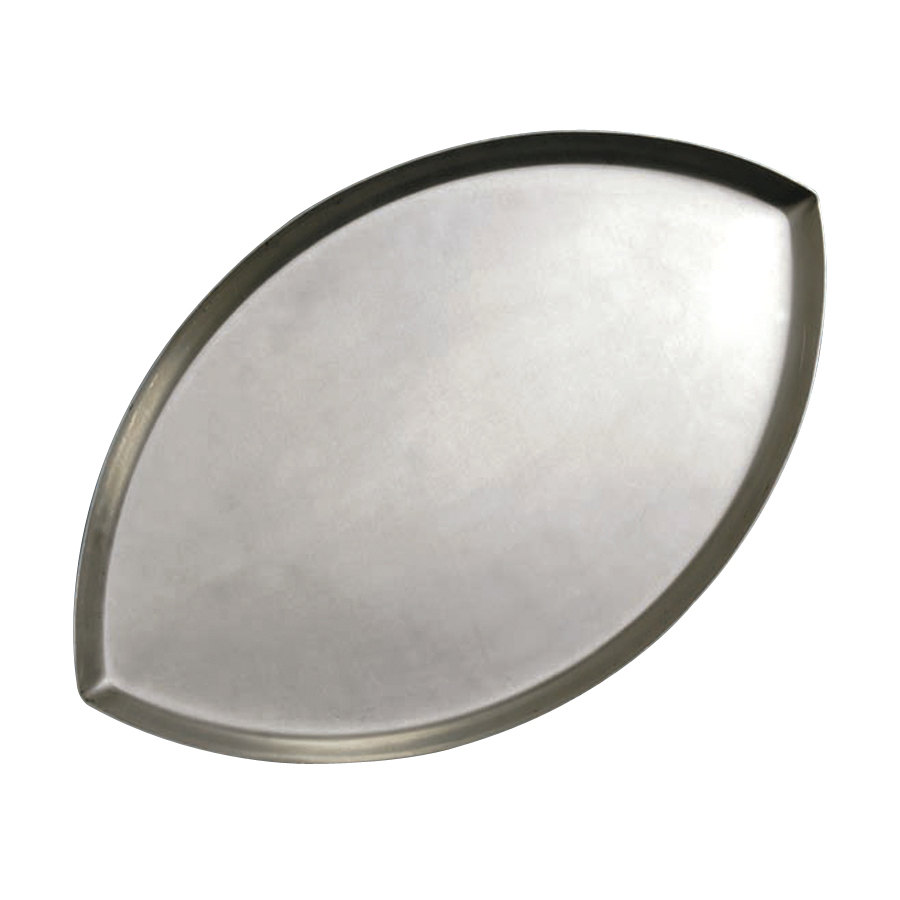 "American Metalcraft FBALL1 18"" x 11 1/4"" x 5/8"" Standard Weight Aluminum Football Pizza Pan"