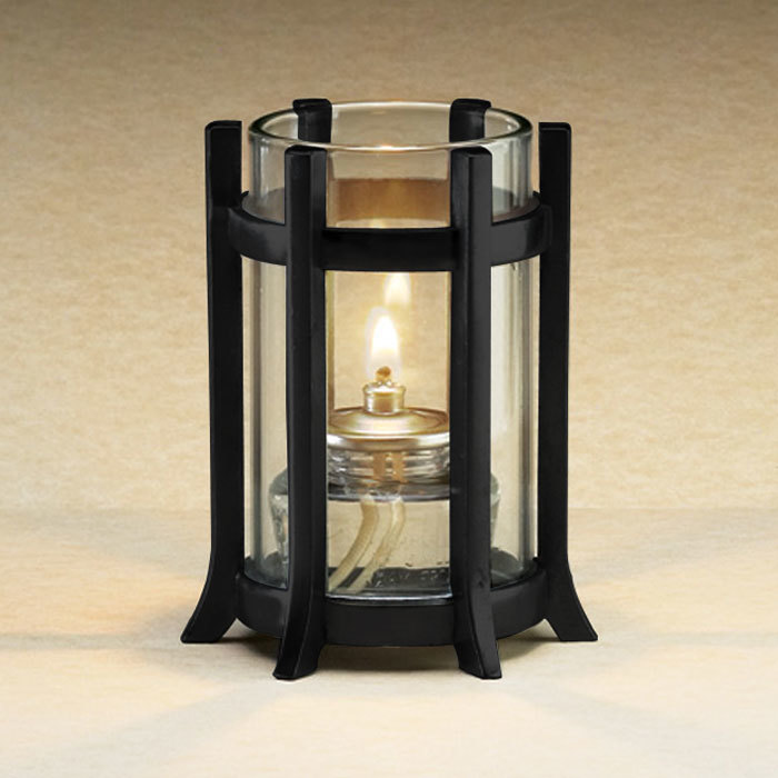 "Sterno Products 85126 3 1/4"" x 4"" Black Castle Lamp Base"