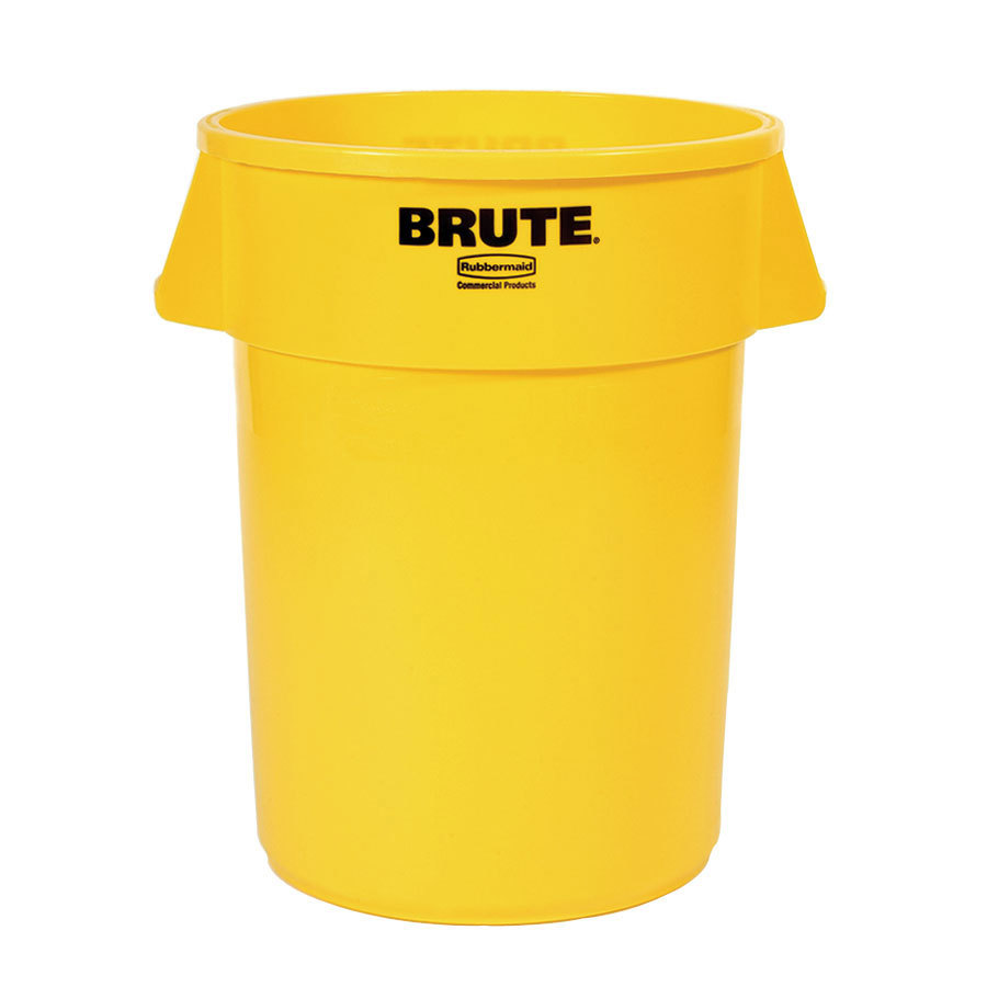Rubbermaid Brute FG264300YEL Yellow 44 Gallon Trash Can