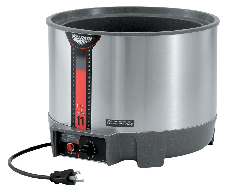 Vollrath 72021 11 Quart Round Heat n' Serve Soup Warmer