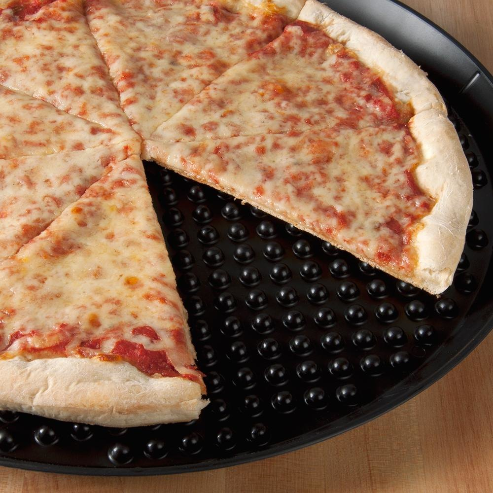 "HS Inc. HS1030 11"" Charcoal Polypropylene Pizza Pleezer Pizza Tray - 12/Case"