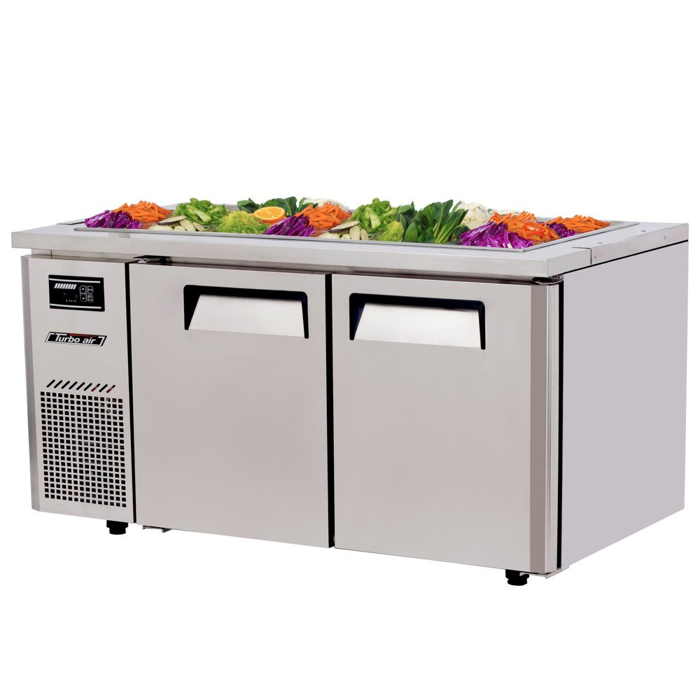 "Turbo Air JBT-60 59"" Refrigerated Buffet Display Table - 15 Cu. Ft."