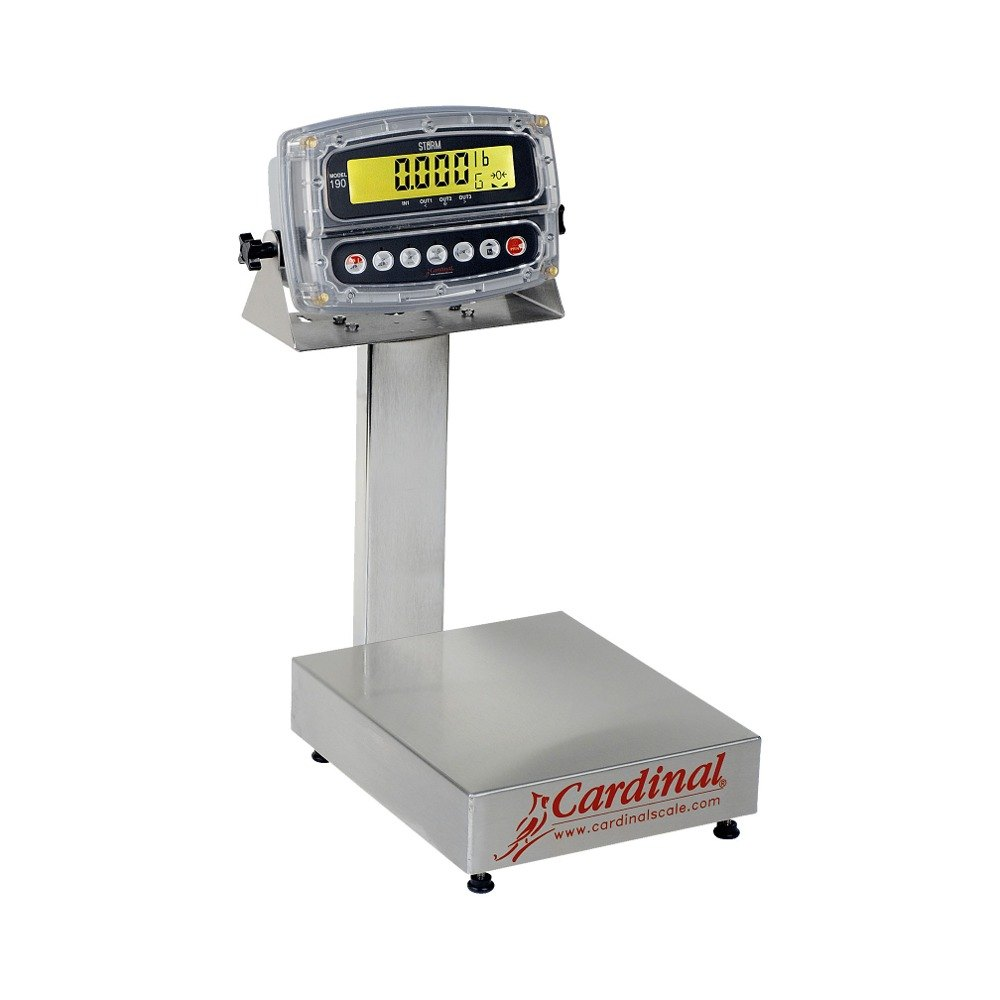 Cardinal Detecto EB-60-190 60 lb. Electronic Bench Scale with 190 Indicator, Legal for Trade