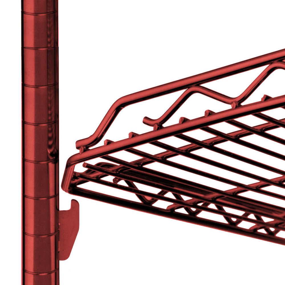 "Metro HDM2436Q-DF qwikSLOT Drop Mat Flame Red Wire Shelf - 24"" x 36"""