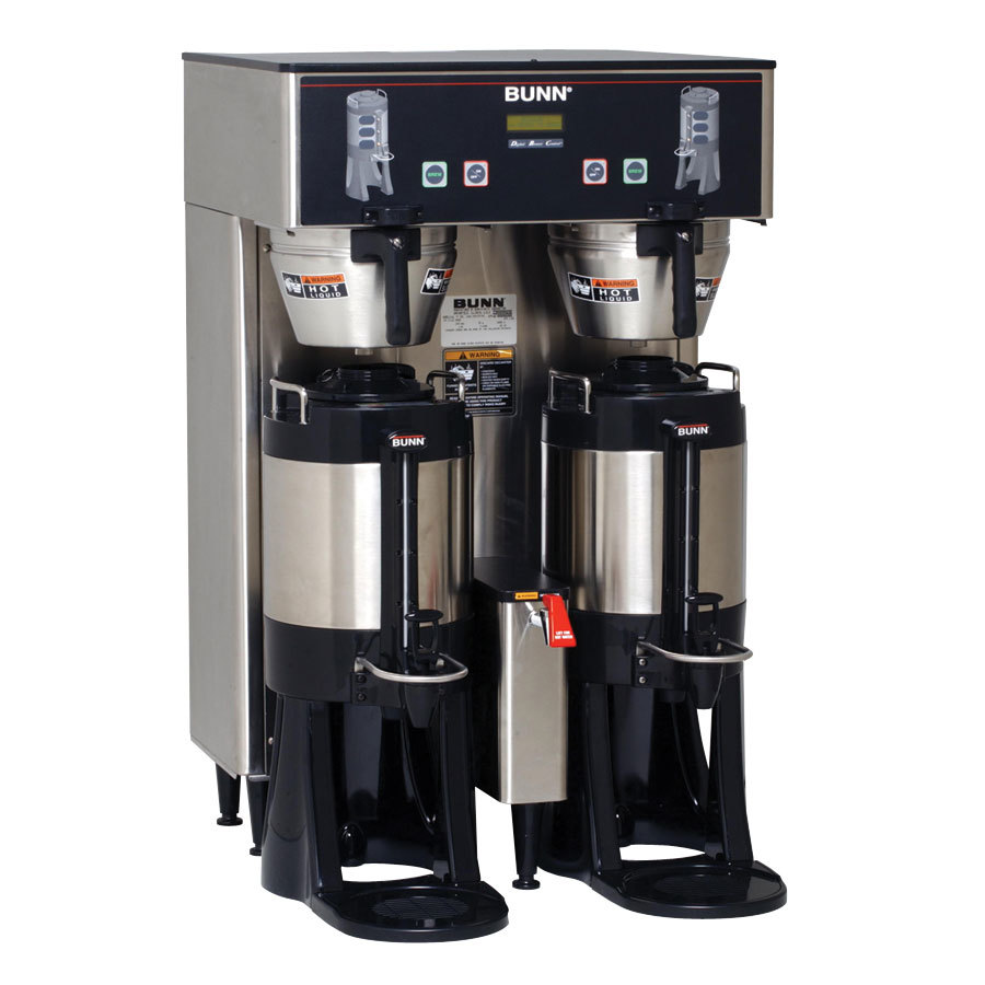 Bunn TF DBC BrewWise ThermoFresh Dual Brewer with Funnel Lock - Stainless Steel 120/208V (Bunn 34600.0006)