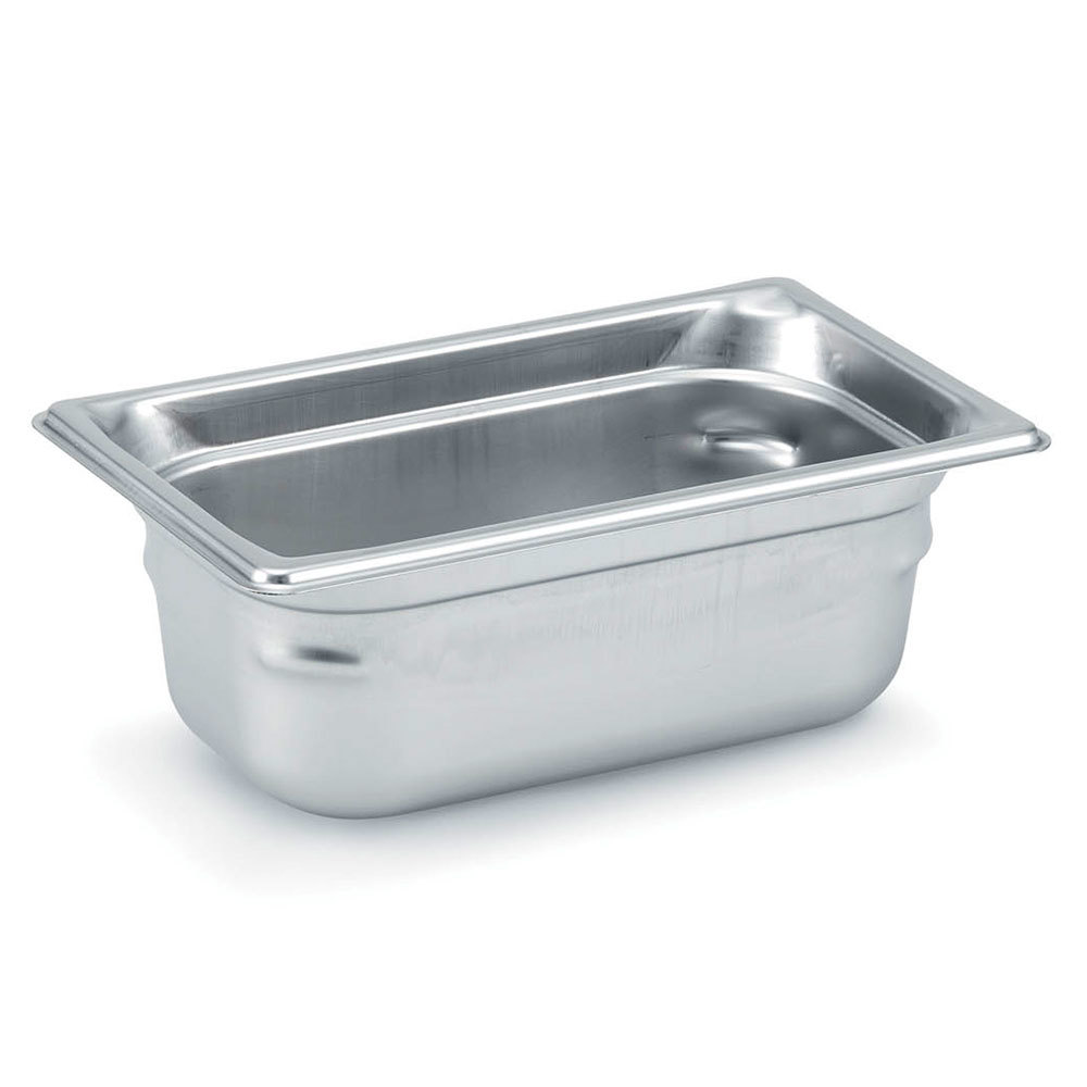 Vollrath 90942 Super Pan 3 Stainless Steel 1/9 Size Anti-Jam Steam Table Pan - 4 inch Deep