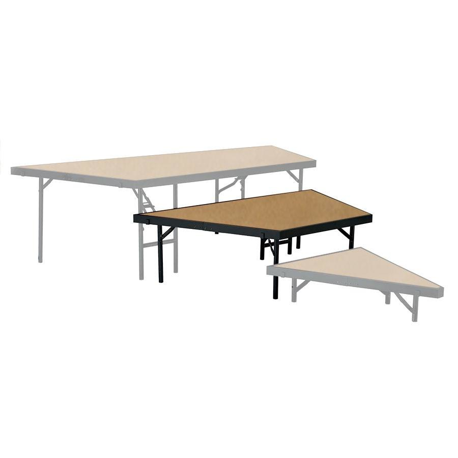 "National Public Seating SP4816HB Portable Stage Pie Unit with Hardboard Surface - 48"" x 16"""