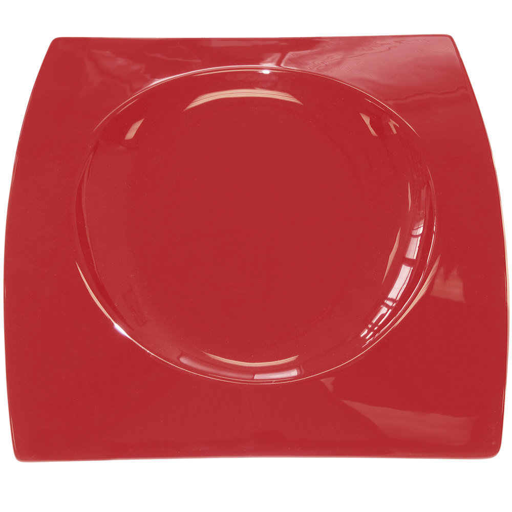 "CAC FSB-21 RED Fashion Bridge Plate 12"" x 12 1/2"" - Red - 4/Case"