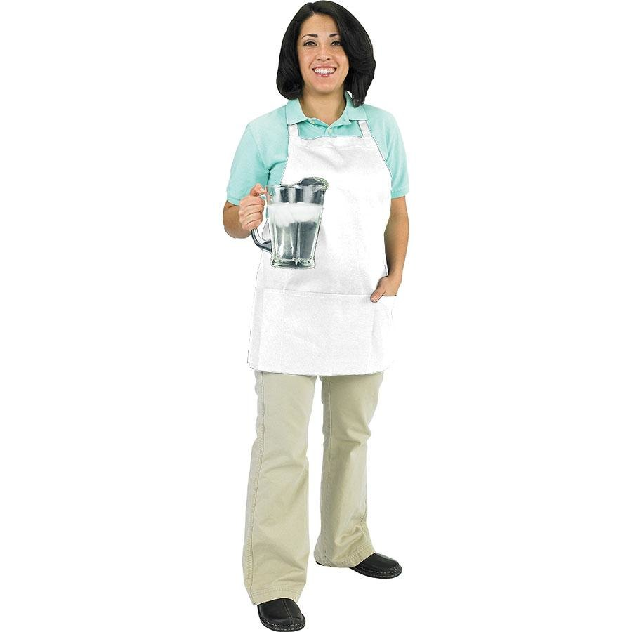 Chef Revival 602BAFH-WH Professional Front of the House White Bib Apron – 28 inch x 25 inch