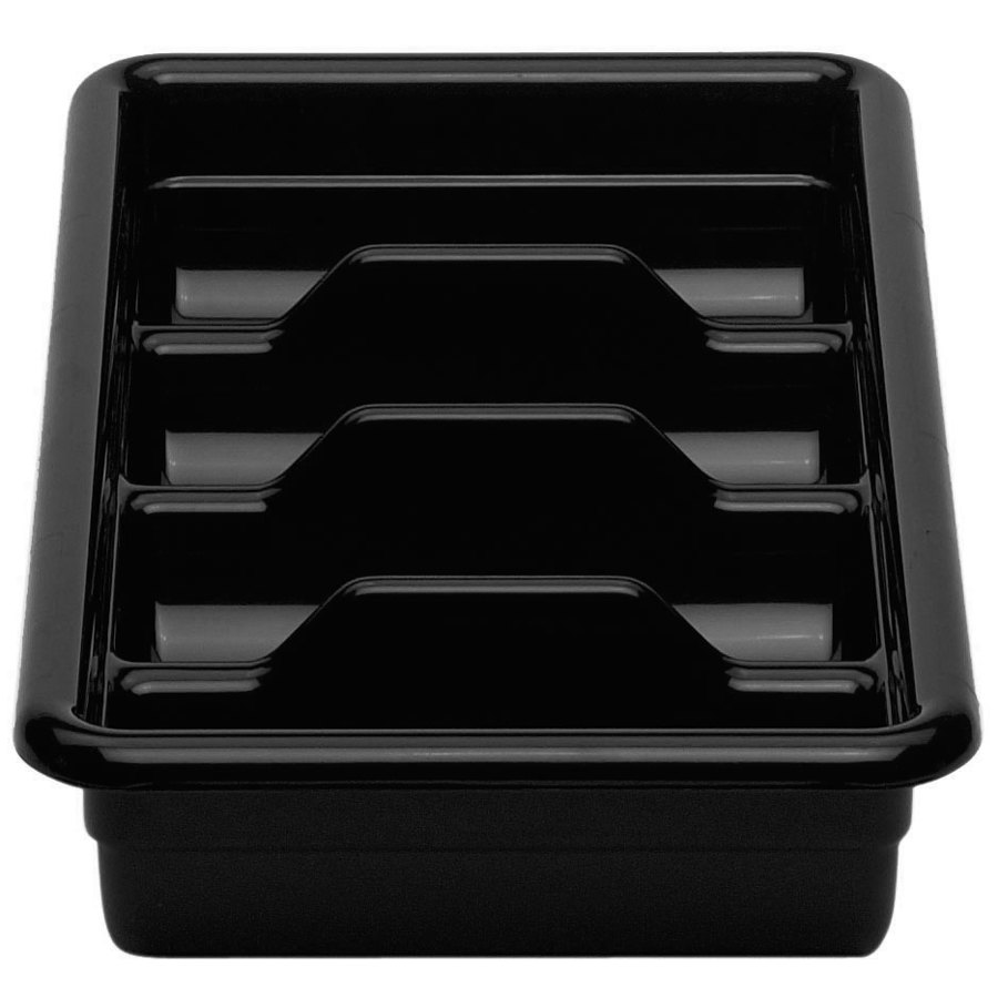 Black Cambro 1120CBR110 Plastic Regal Cutlery Box 11 inch x 20 inch