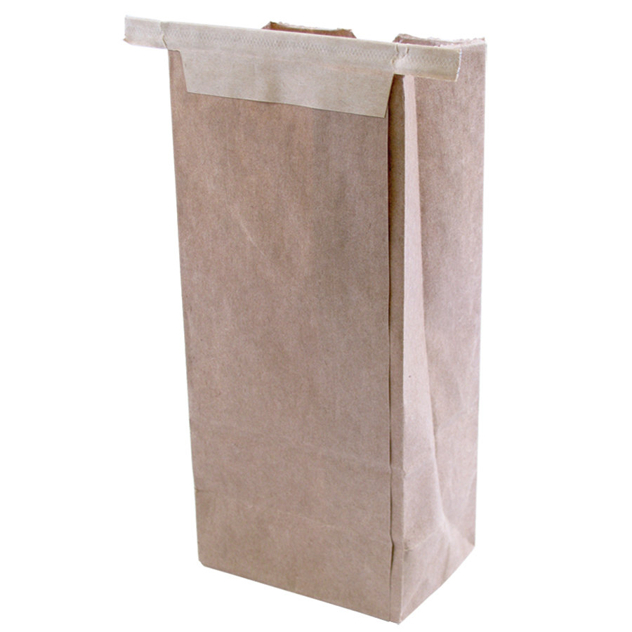 1/2 lb. Brown Customizable Paper Coffee Bag Tin Tie Reclosable 100 / Pack