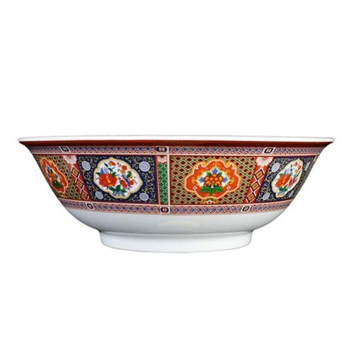 Thunder Group 5095TP Peacock 96 oz. Round Melamine Rimless Bowl - 12/Case