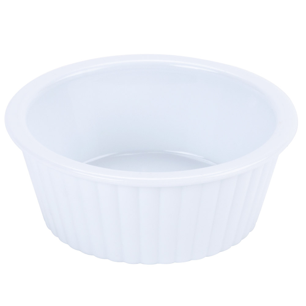GET ER-402-WH 2 oz. White Fluted Plastic Ramekin - 12/Pack