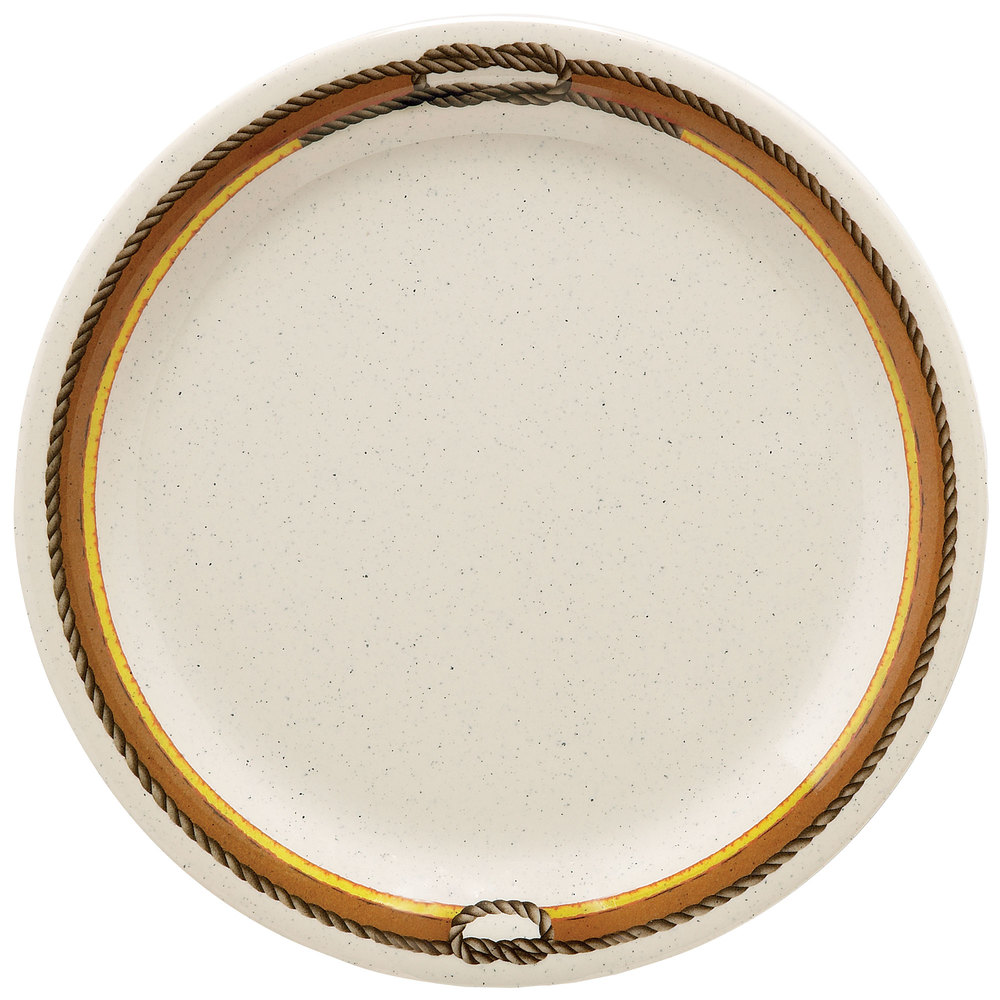 "GET NP-10-RD 10 1/2"" Diamond Rodeo Narrow Rim Plate - 12 / Case"