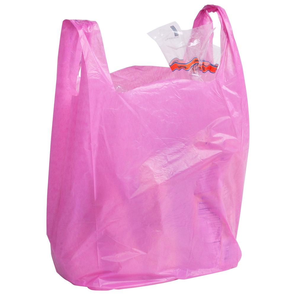 1 6 size magenta t shirt bag 1000 case for Plastic t shirt bag