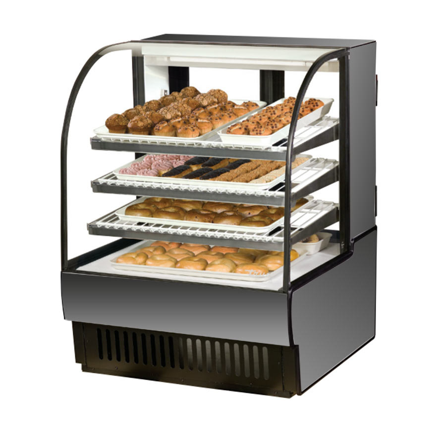 True TCGD-36 36 inch Stainless Steel Dry Bakery Case - 16.8 Cu. Ft.