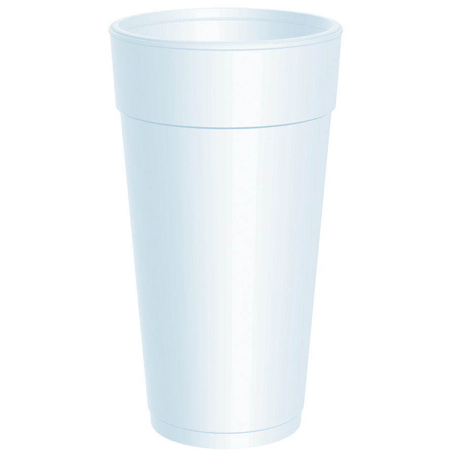 Dart 24J16 24 oz. Customizable White Foam Cup 500/Case