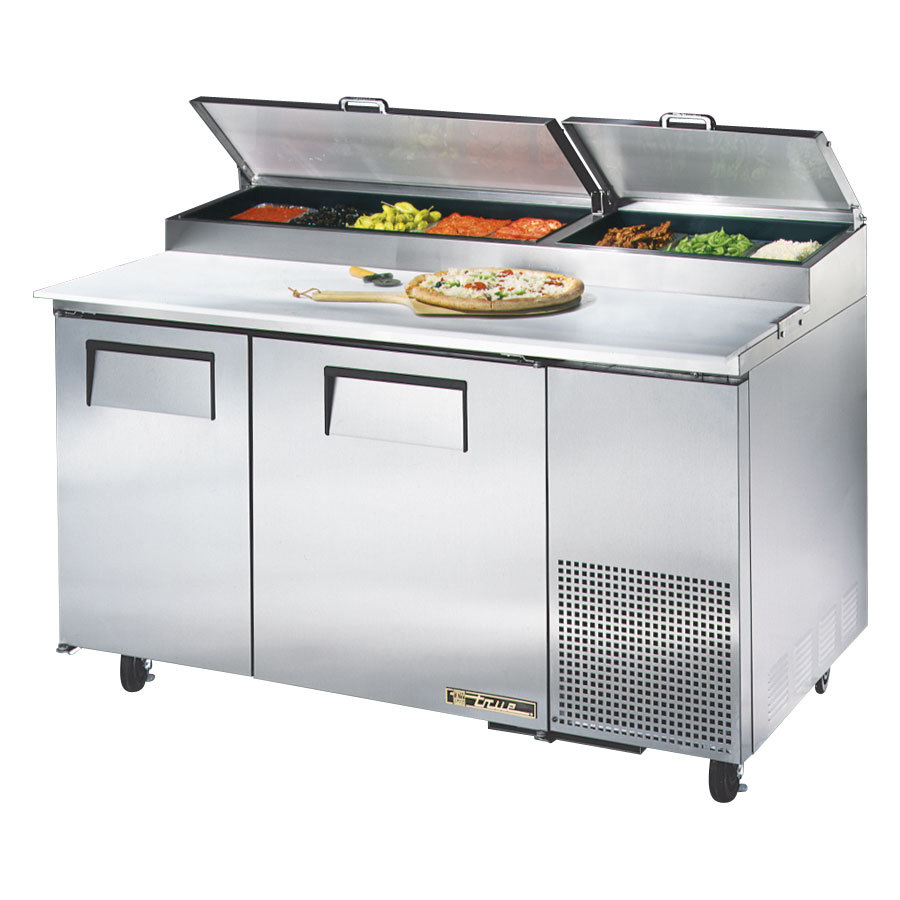 True TPP-60 60 inch 2 Door Refrigerated Pizza Prep Table