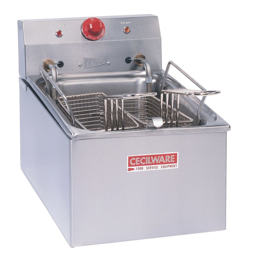 Grindmaster Cecilware 240 Volts Cecilware EL-250 Stainless Steel Commercial Countertop Electric Deep Fryer with 15 lb. Fry Tank - 4200/5500W at Sears.com