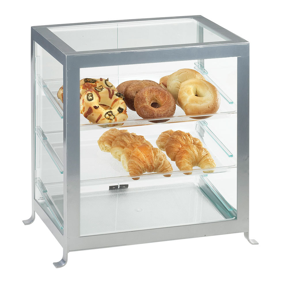 Cal Mil 1574-S-13 Black Soho Self Serve Display Case - 17 1/4 inch x 12 3/4 inch x 20 3/4 inch
