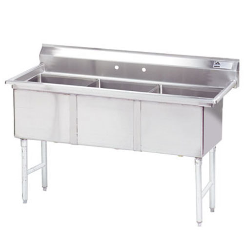 ... FC-3-1818 Three Compartment Stainless Steel Commercial Sink - 59