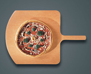 "American Metalcraft MP1826 18"" Square Pressed Pizza Peel with 8"" Handle - Make-Up Pizza Peel"