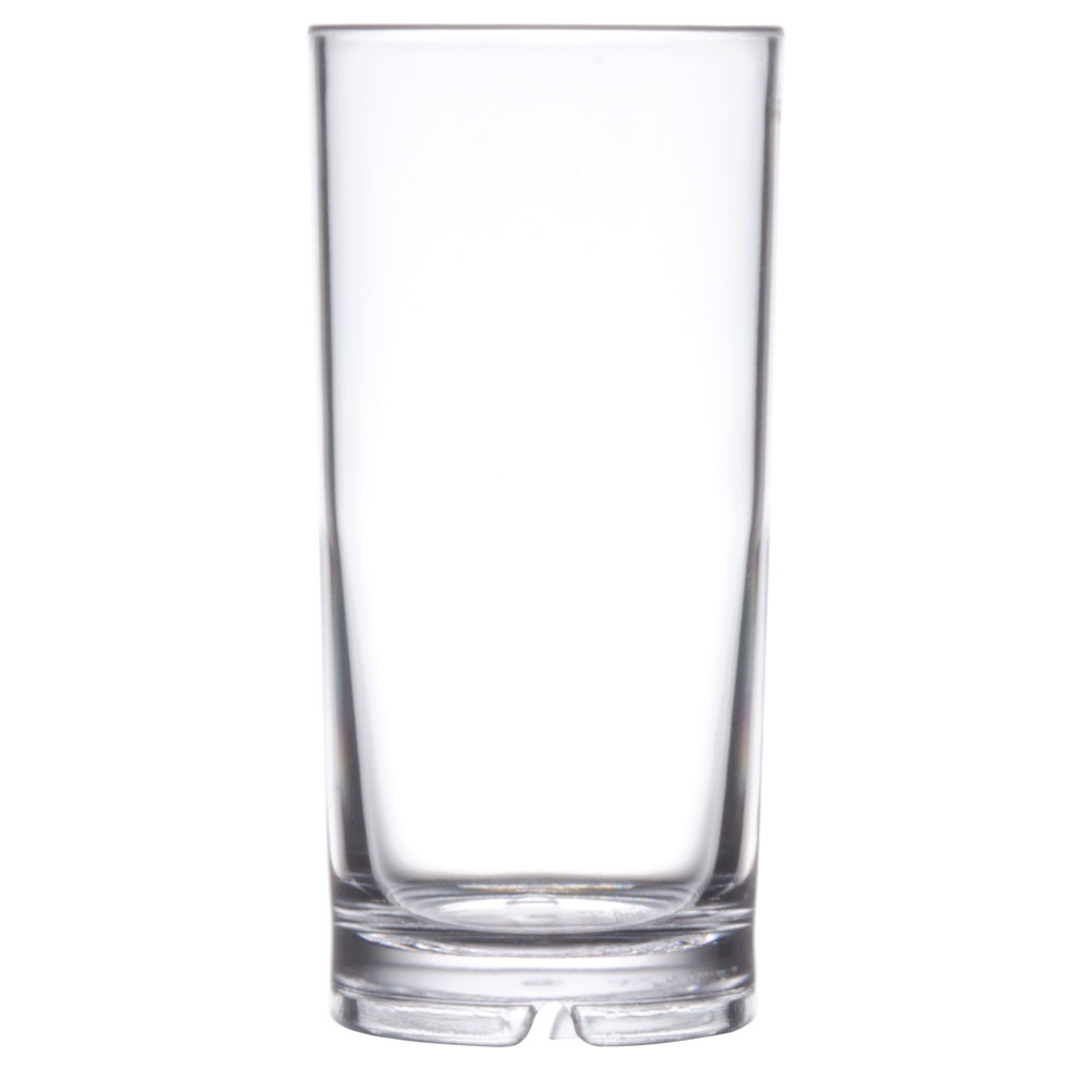 Get h 9 1 san 9 oz clear san plastic high ball glass 24 for Glass or acrylic