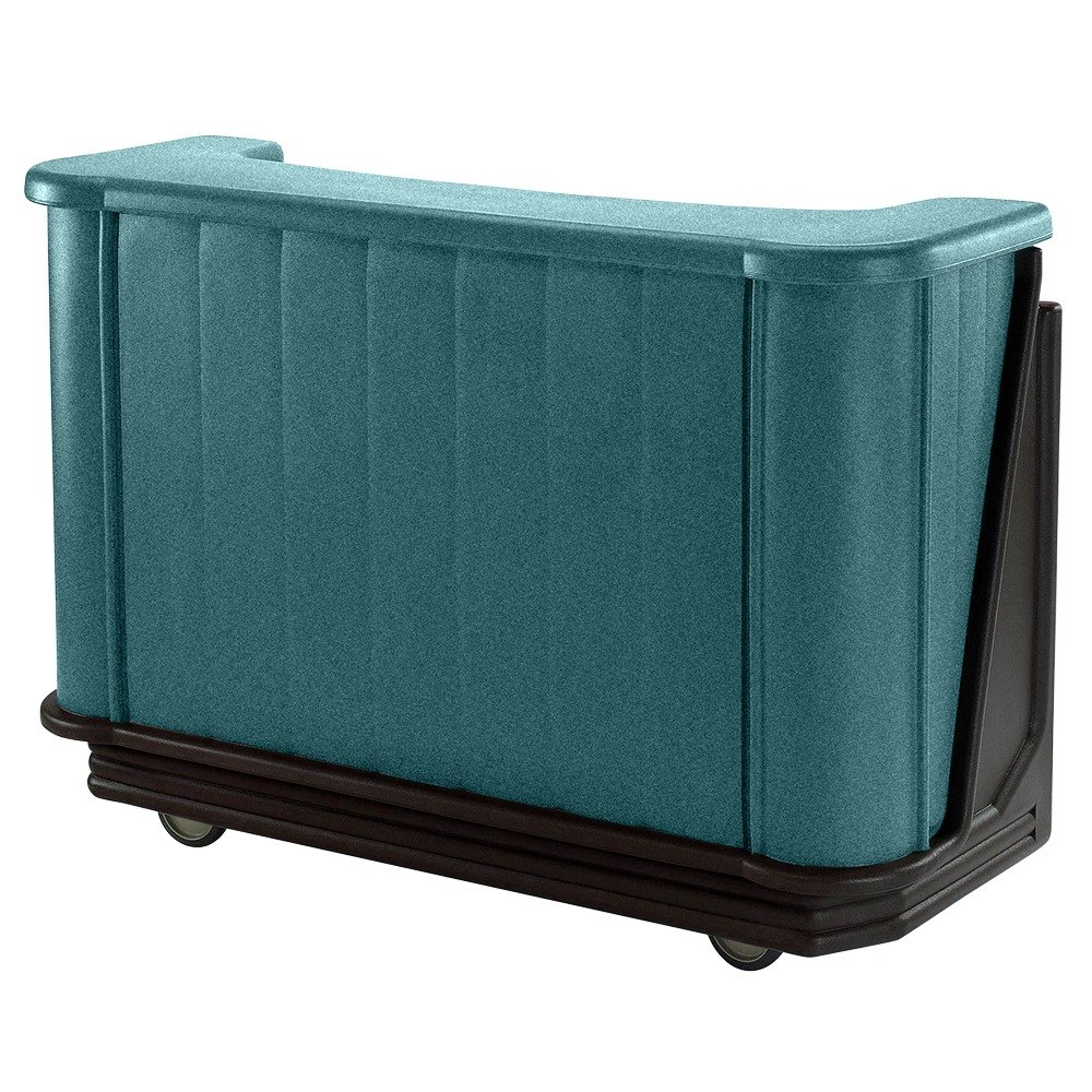 "Cambro BAR650421 Granite Green with Black Base Cambar 67"" Portable Bar with 7-Bottle Speed Rail"
