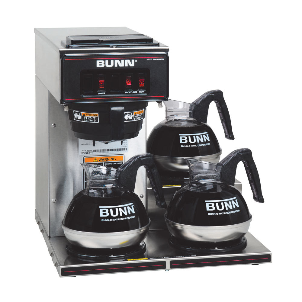 Bunn Vp17 3 Low Profile Pourover Coffee Brewer