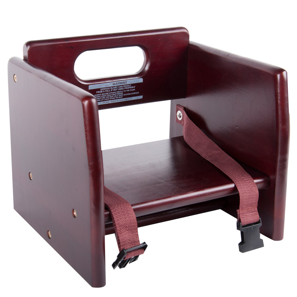 Wood Booster Seat Chair With Dark Finish Unassembled