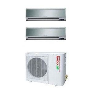Turbo Air 26,000 BTU Ductless Wall Mounted Multi-Zone Air Conditioner / Heat Pump with Two Indoor Evaporators