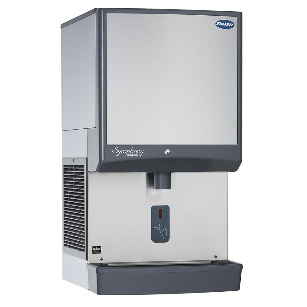 Follett 50CI400W-SI Symphony Countertop Water Cooled Ice Machine ...