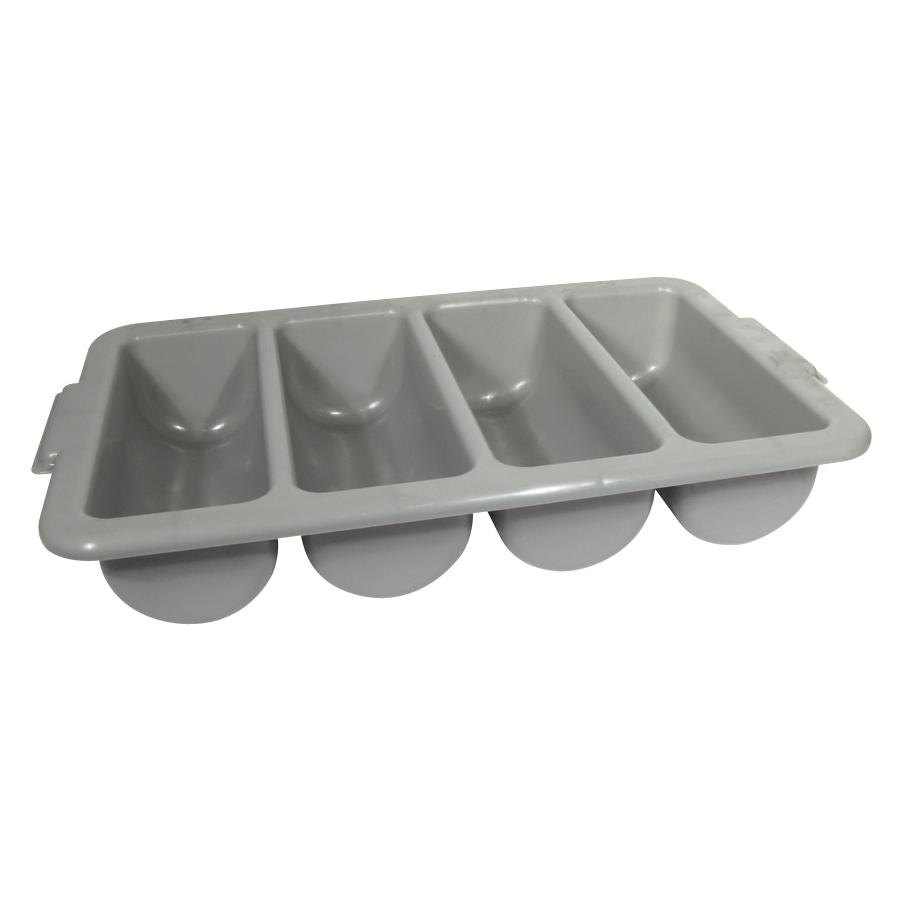 4 Compartment Cutlery Box - Gray