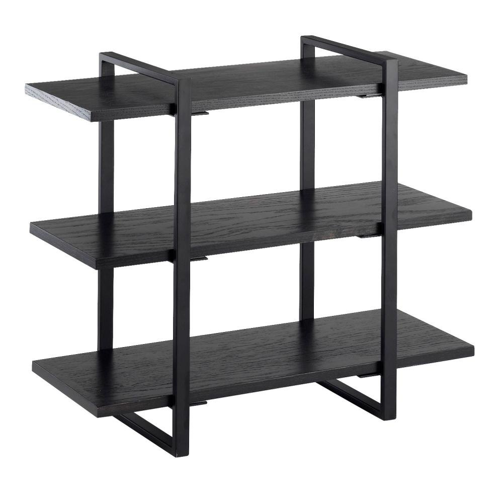 Cal Mil 1939-96 Midnight 3-Shelf Metal Frame Riser - Black Frame, 28 inch x 12 inch x 24 inch