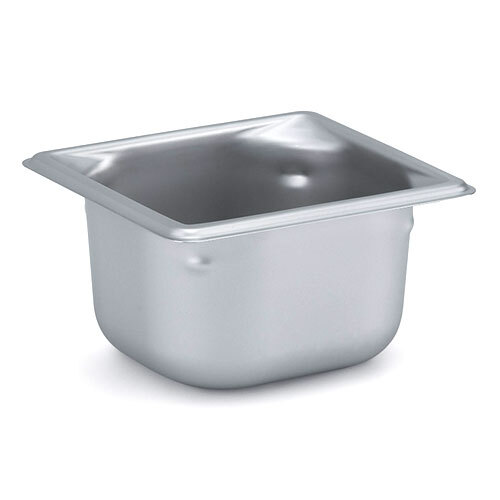 Vollrath 90622 Super Pan 3 Stainless Steel 1/6 Size Anti-Jam Steam Table Pan - 2 1/2 inch Deep
