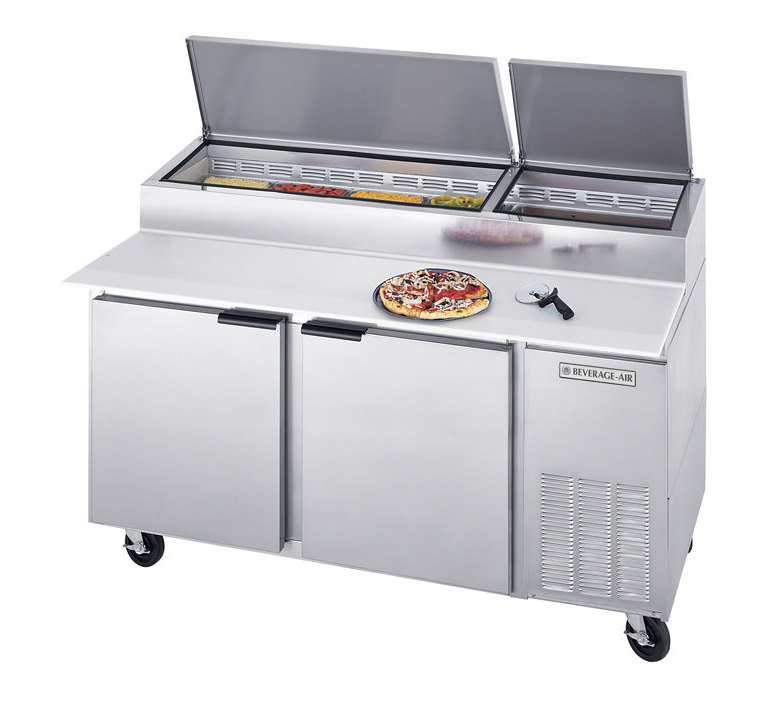 Beverage Air (Bev Air) DP67 Pizza Prep Table - 67 inch