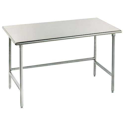 "Advance Tabco TAG-302 30"" x 24"" 16 Gauge Open Base Stainless Steel Commercial Work Table"