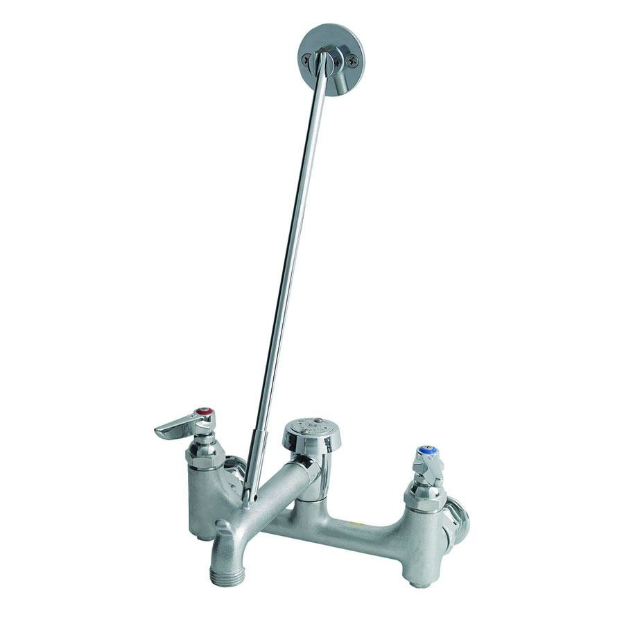 T&S B-0665-CR-BSTR Wall Mount Service Sink Faucet with Adjustable 8 ...