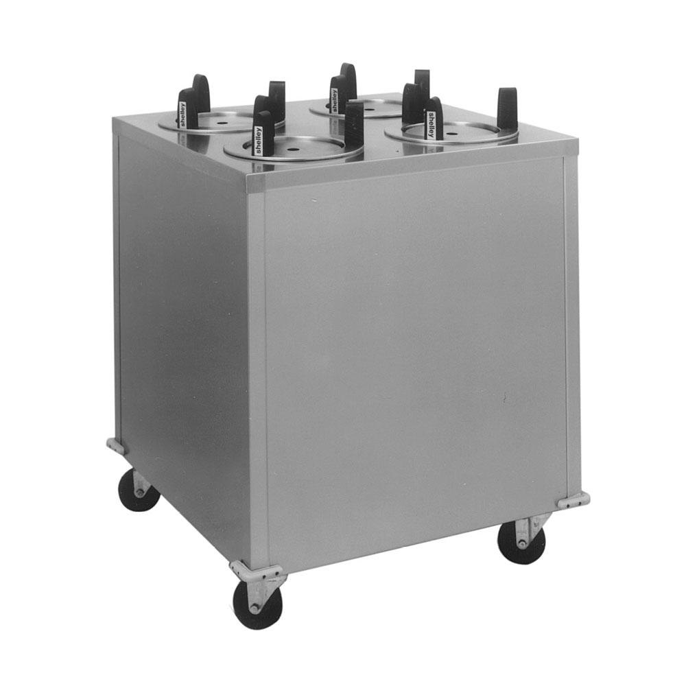 "Delfield CAB4-813QT Quick Temp Mobile Enclosed Four Stack Heated Dish Dispenser / Warmer for 7 1/4"" to 8 1/8"" Dishes - 208V"
