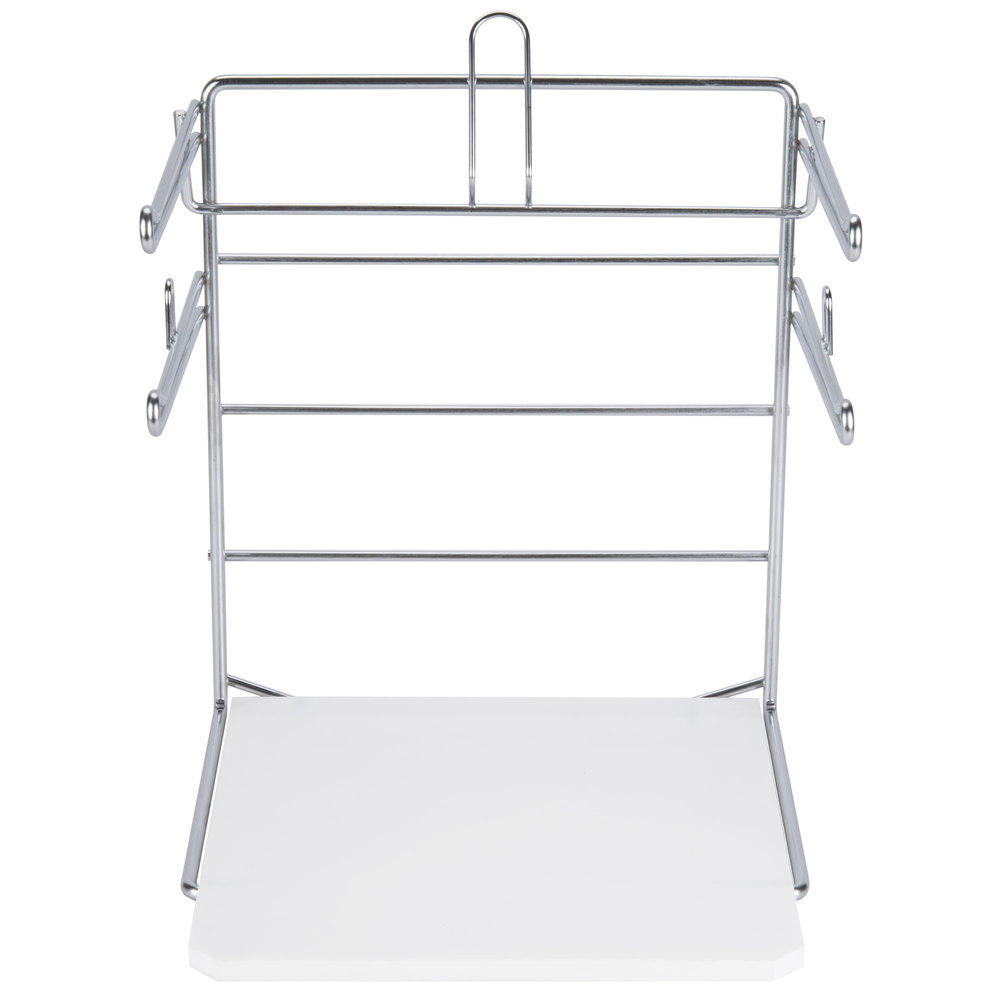 chrome t shirt bag rack stand