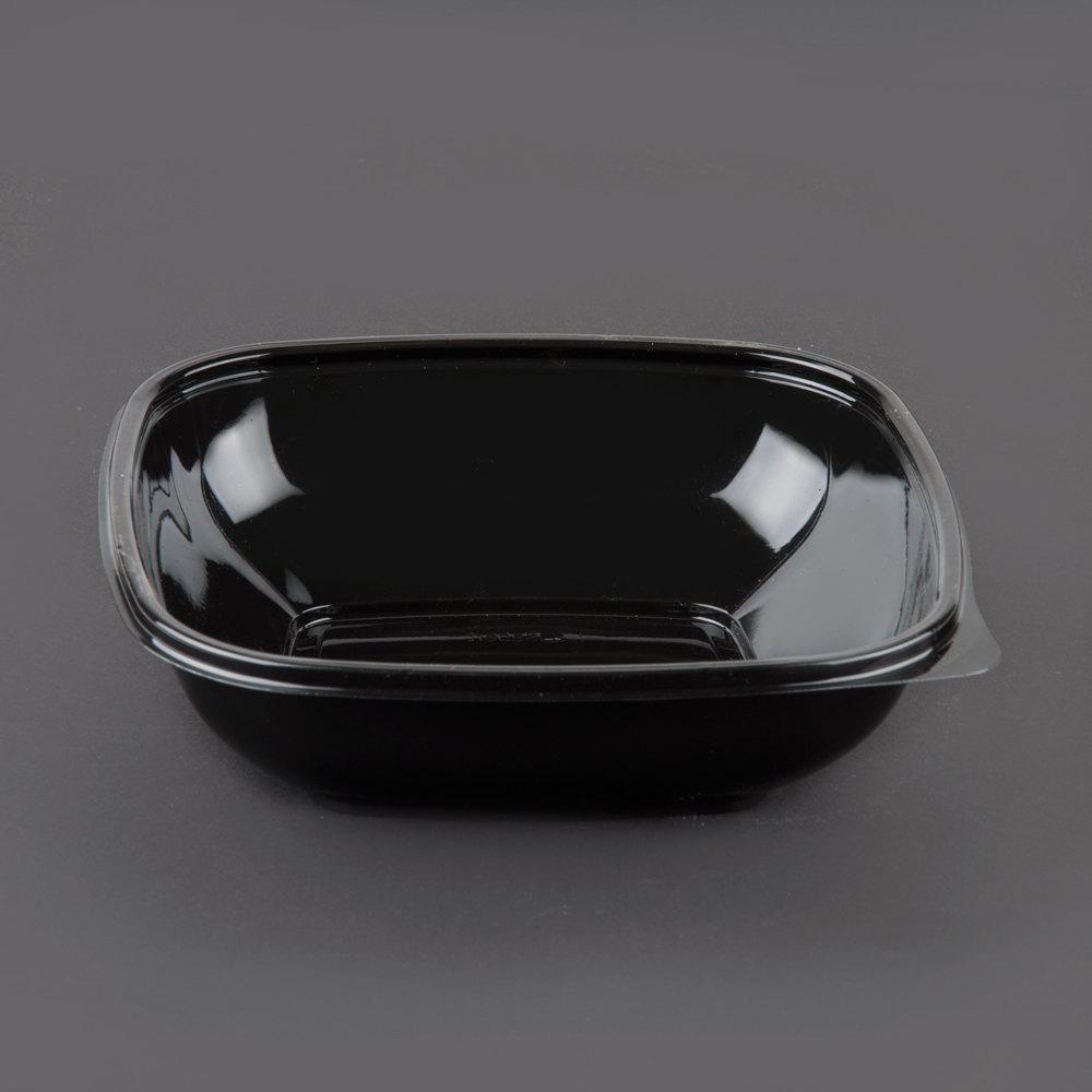 Sabert 98032b300 Bowl2 32 Oz Black Square Bowl 300 Case