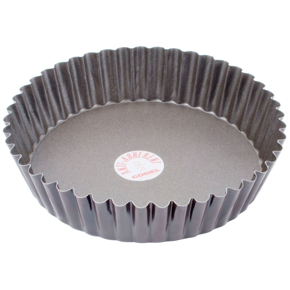 Deep tart quiche pan with removable bottom