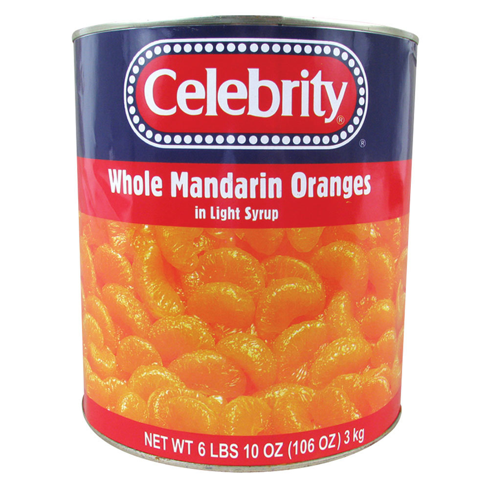 Whole Mandarin Oranges in Light Syrup 6 - #10 Cans / Case