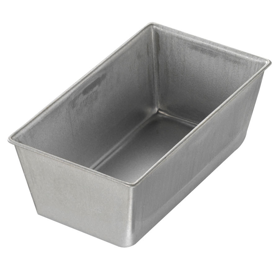 "Chicago Metallic 40415 3/8 lb. Single Open Top Glazed Bread Pan - 5 1/2"" x 3"" x 2 3/16"""