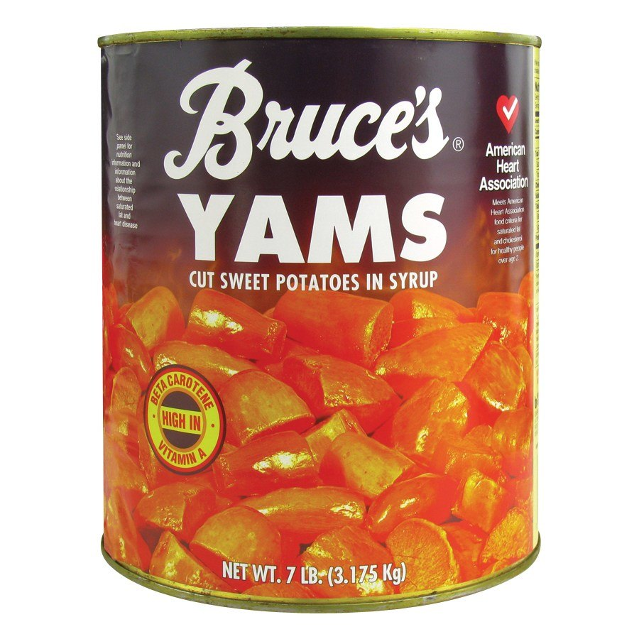 Bruce's Cut Sweet Potatoes in Syrup 6 - #10 Cans / Case