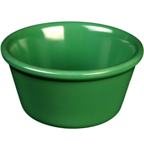 Thunder Group ML536GR1 Green 2.5 oz. Smooth Melamine Ramekin - 12/Case
