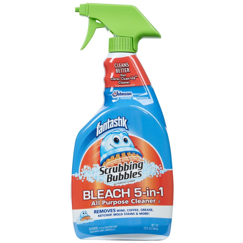 Diversey Fantastik 32 oz. Scrubbing Bubbles All Purpose Spray Cleaner with Bleach - 8/Case
