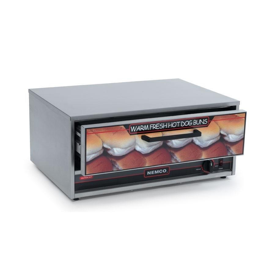 Nemco 8018 bw moist heat hot dog bun warmer for 8018 - Hot dog roller grill with bun warmer ...