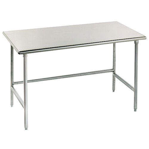 "Advance Tabco TAG-247 24"" x 84"" 16 Gauge Open Base Stainless Steel Commercial Work Table"