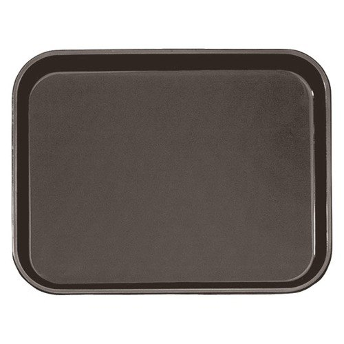 "Cambro PT1216167 Brown 12"" x 16"" Polytread Non-Skid Serving Tray"